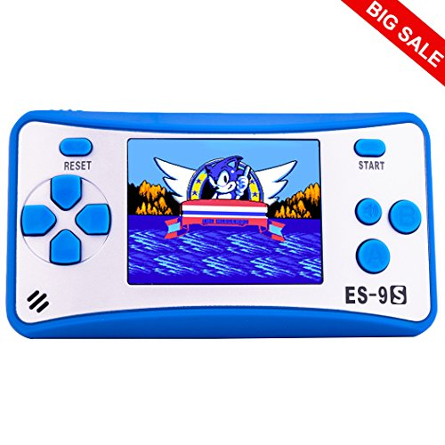 Retro Handheld Games for Kids with Built in 168 Classic Video Games Device Mini Arcade Gaming Machines Portable Electronic Consoles 16 Bit 2.5'' Screen (Blue) by Great Boy