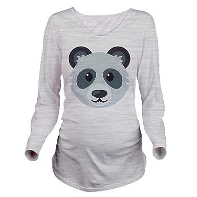 feca57b39 CafePress Panda Long Sleeve Maternity T Shirt Maternity Tee at Amazon Women's  Clothing store: