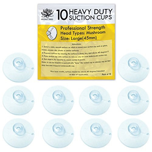 Aroma Trees Professional Strength Suction Cups 45mm (Large - 10 Packs) without Hook ()