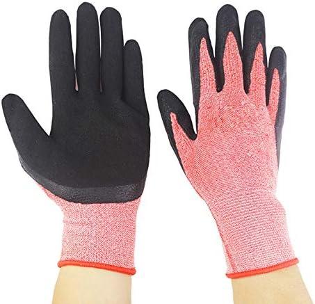 作業用手袋女性の屋外の庭の植栽工作機械多機能保護手袋、ピンク、1ペア