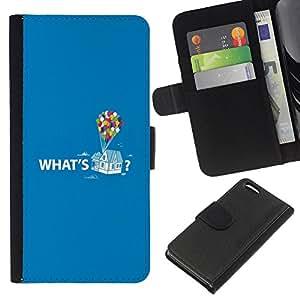 WINCASE Cuadro Funda Voltear Cuero Ranura Tarjetas TPU Carcasas Protectora Cover Case Para Apple Iphone 5C - citar a globo de la historieta de texto