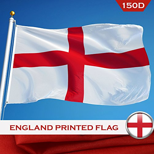G128 - England English Flag 3x5 ft Printed Brass Grommets 15