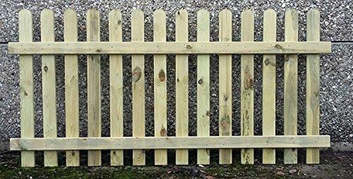 90cm (3ft) tall x 1.8m (6ft) Picket Garden Fence Panel hand built treated wood Farm & Garden