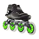 Atom Pro Outdoor Inline Speed Skate 4 Wheel Package with Atom Matrix Wheels - 12.8 4x100 Frame - Size 10