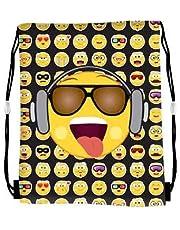 e2af24ceec05 Templar Smiley Emoji Gym Bag Kid Girls Boys Drawstring PE Swim School Sport  Bag Rucksack