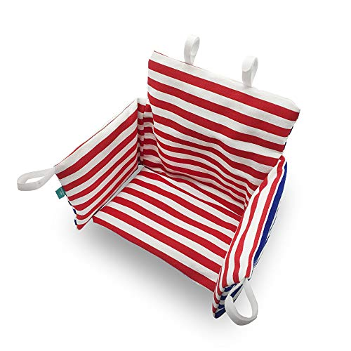 - Hothuimin Highchair Seat Cover, Cushion Liner Pad Cover, Universal Baby Highchair Insert Mat Washable Foldable – Red White Stripe