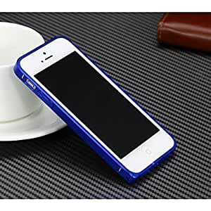 ZL Solid Color 0.7mm Metal Bumper for iPhone5/5S , Blue