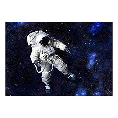Handsome Portrait, Spaceman Exploring The Unknown Space Wall Mural, Made to Last