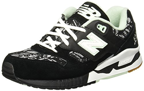 New Balance Women 530 Summer Utility W530SUA (black / white / seafoam) by New Balance