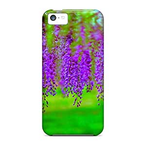 Durable Protector Case Cover With Delicate Wisteria Hot Design For Iphone 5c