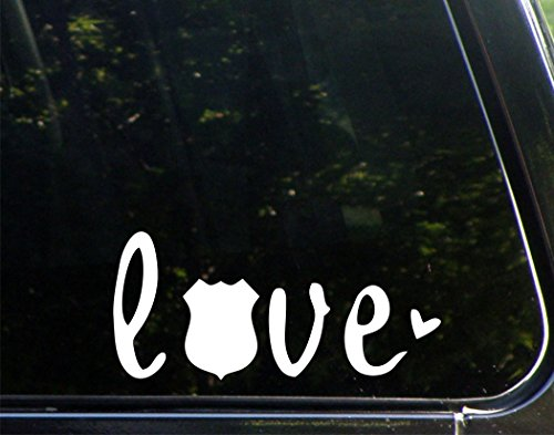 Sweet Tea Decals Love with Police Maltese - Sheriff - Officer - 8 1/2