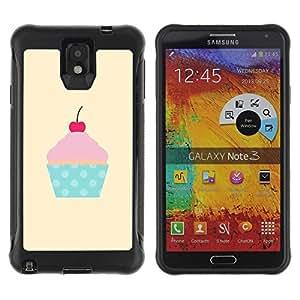 Suave TPU GEL Carcasa Funda Silicona Blando Estuche Caso de protección (para) Samsung Note 3 / CECELL Phone case / / cherry yellow polka dot cupcake pink /