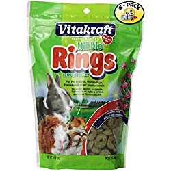 VitaKraft Small Animal Nibble Rings Crunchy Treat - 6 PACK
