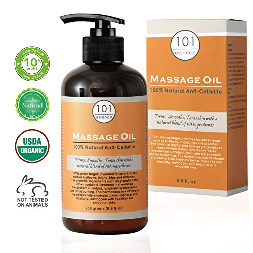 101Essence: Anti-Cellulite Massage Oil - Ultimate Combination of 101 Ingredients, 100% Natural, Lifts and Tightens Skin, Targets Unwanted Fat Tissues, Cellulite Treatment, Hydration and -