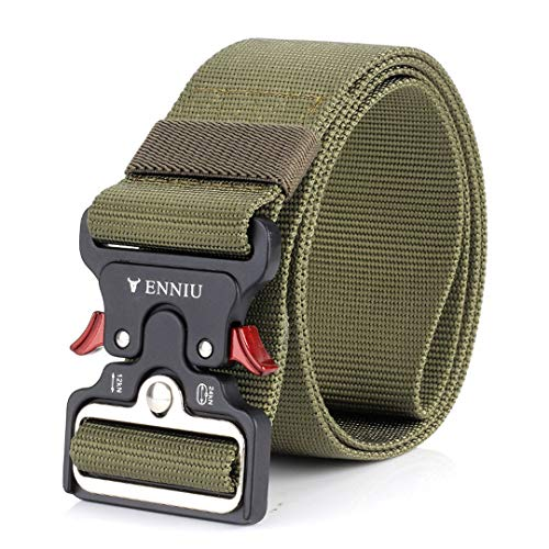 (Tactical Nylon Military Metal Automatic Buckle Belt Men SWAT Army Gear Outdoor Waist Strap Ceintures only belt2 125cm)