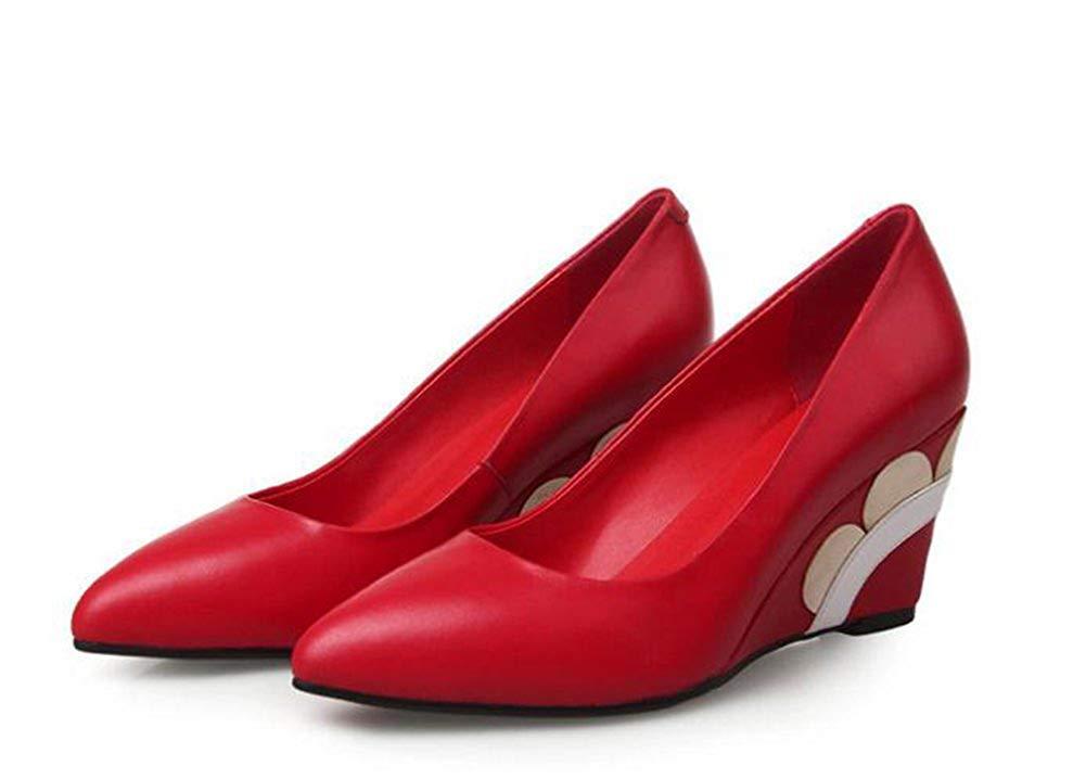 Oudan Flachen Hang Mit Lederschuhen,Rot,37 (Farbe   Wie Gezeigt, Größe   Einheitsgröße)  | Perfekte Verarbeitung