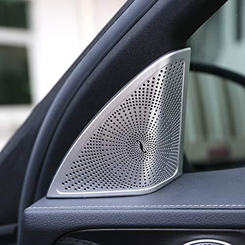 Door Loudspeaker Cover Fit For Mercedes Benz C Class W205 2015 2016 2017 2018 Car Accessories Aluminum alloy Tweeters Speaker Cover Cap Trim Sticker
