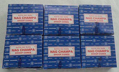Nag Champa Incense Cones By Satya Sai Baba 6 X 12 (72)