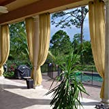 cololeaf Energy Efficient Privacy Protection Panels Room Divider Indoor Outdoor Curtain Window Treatment Draperies – Nickle Grommet – Khaki 120″ W x 96″ L (1 Panel) Review