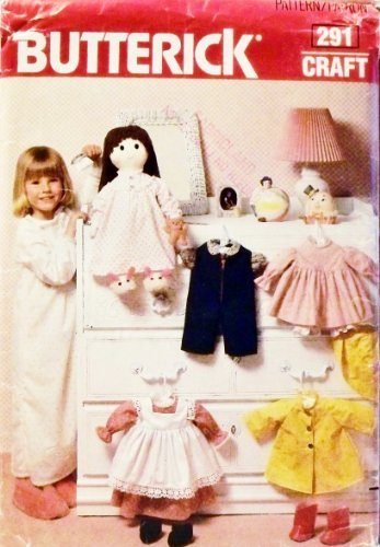 Butterick 6117 or 291 Doll Clothes Sewing Pattern for 19