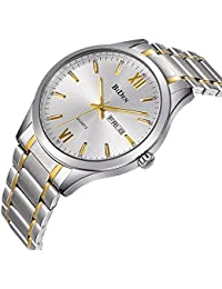 Watches, Mens Watches Gold stainless Steel Watch Luxury...