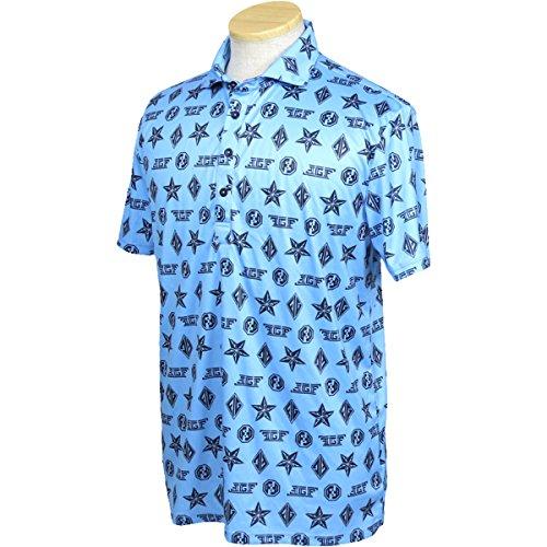コロニアル酸素課税ポロシャツ メンズ フィッチェゴルフ バイ ドン コニシ FICCE GOLF BY DON KONISHI 2018 春夏 ゴルフウェア M(M) ライトブルー(82) 281108