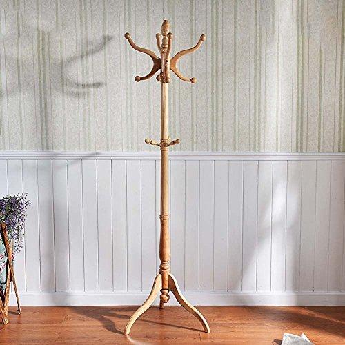 HOMEE European Style Floor Style Wooden Art Incorporated Coat Racks Bedroom Hangers,1 by HOMEE