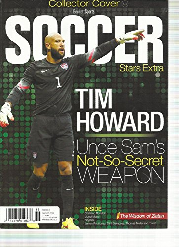 Football Cover Beckett (BECKETT SPORTS, SOCCER STARS EXTRA COLLECTOR COVER ISSUE, 2014 ( TIM HOWARD ))