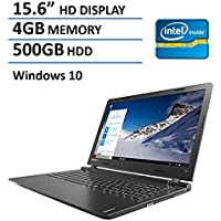 2016 Newest Lenovo Ideapad High Performance 15.6-Inch Non-Touch Laptop PC, Intel Core i3-6100U, 4GB RAM, 500GB HDD, Wifi, Bluetooth, Webcam, Windows 10
