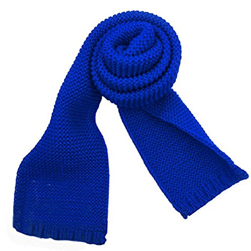 - Sherry Toddlers Kids Knitted Scarf Fashion Solid Color Neck Warmer Winter Warm Scarves Wrap Shawl Blue
