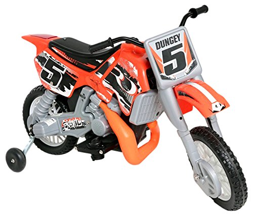 Wonderlanes Beyond Infinity Ryan Dungey Battery Powered 12V Motocross Dirt Bike, 47.2' x 22.1' x 28.38', Orange/Black/White 47.2 x 22.1 x 28.38 Beyond Infinity Ltd. 12630