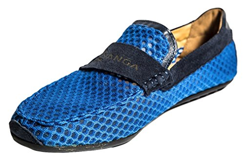 Blue Mesh Suede Hollow Alaki and Loafers 5XxwgUTRq