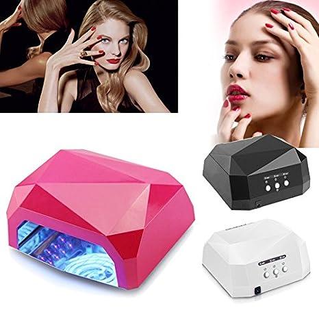 Vinteky® Lámpara LED Profesional, Secador de Uñas en Manicuras con Temporizadores de 10, 30 y 60 segundos Lámpara de secado de uñas *Funcional Conveniente ...