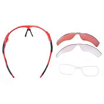 ROCKBROS Polarizadas Ciclismo Gafas de diseño de Bicicletas Bicicletas Deportivas Gafas de Sol UV400 Pesca Rojo