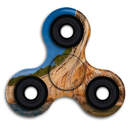 Rocks-Cruises Tri-Spinner Hands Spinner Fidgets Fingertip Bearing Toy And Fit Adults & Children For Relieve Stress Anxiety ADHD Autism