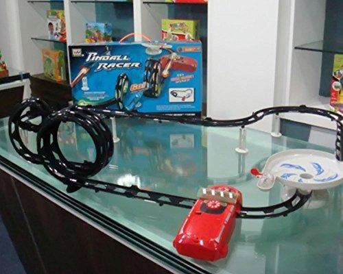 Azimporter Kids Childrens Educational Toys Global Track Flashing Light Pinball Racer Fun Play , Kid ,Toy , Hobbie , Nice Gift