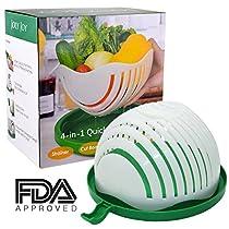 JolyJoy Salad Cutter Bowl, FDA Approved, 60 Second Fast Salad Serve, Quick Chop Salad Maker, Fruit/Vegetable Easy Slicer & Safe Chopper, Upgraded FamilySize