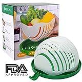Quick Chop Salad Bowl, FDA Approved Salad Chopper Bowl, JolyJoy 60 Seconds Salad Maker, Easy Cutter Bowl for Fruit & Vegetable (Large Family Size, Upgraded Design)