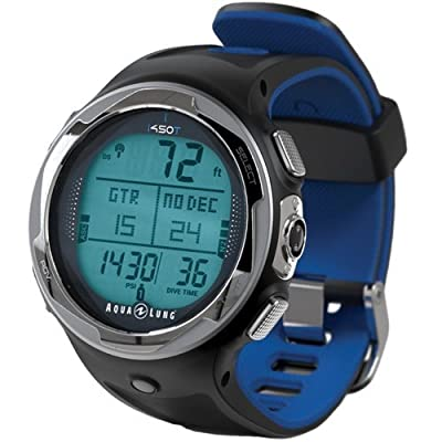 Image of Aqua Lung i450t Hoseless Air Integrated Wrist Watch Dive Computer w/USB, Blue