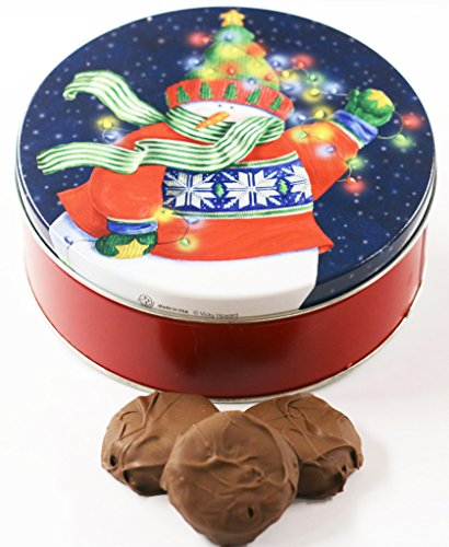 Scott's Cakes Milk Chocolate Covered Cool Mint Oreos in a Small Holiday Lites Tin ()