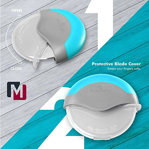 Premium Pizza Cutter Wheel Stainless Steel, Easy to clean, Razor Sharp with Protective Blade Guard from Mozzbi by Mozzbi (Image #5)