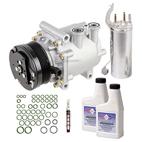 Explorer Compressor (New AC Compressor & Clutch With Complete A/C Repair Kit For Explorer Mountaineer - BuyAutoParts 60-80181RK New)