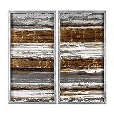 Uttermost 35337 Metallic Layers Modern Art S/2
