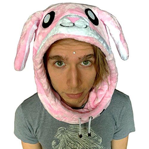 Onesie Costumes Cosplay Pajamas Sleeping Cap Adult Kids Head Wear Indoors Outdoors Rave Animal Hood Fleece - Bunny Rabbit, Panda, Giraffe, Raccoon, Cow Hood / (Bunny Onesies For Adults)