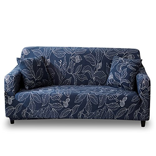 Piece Morgan 3 (HOTNIU Stretch Sofa Slipcover Polyester Spandex Couch Covers 1-Piece Printed Sofa Furniture Cover/Protector Living Room (Sofa, Printed #18))