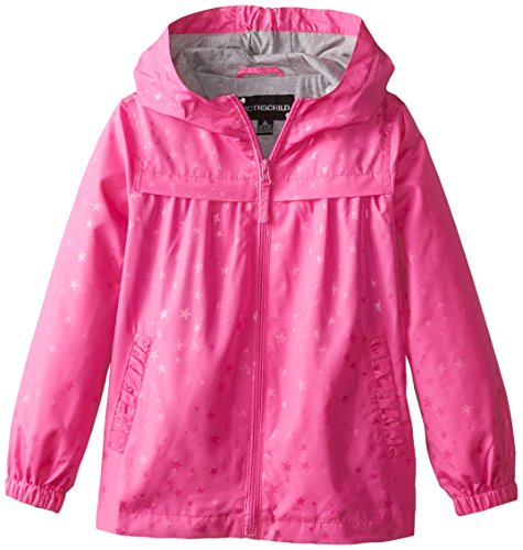 Rothschild Little Girls' Jacket with Star, Rock Candy, Large/6X