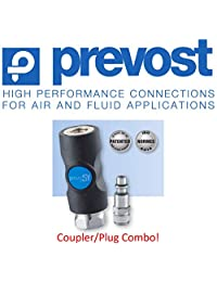 "(1) Prevost ISI, 1 4,"" Industrial Perfil, seguridad, aire comprimido, Coupler Air de clip, (1) macho Rosca Plug Combo, 3 Yr antifiltraciones Warranty   Retail Packaged"