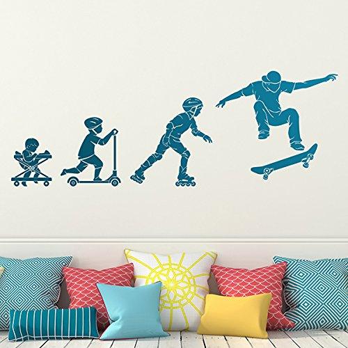 CVANU Wall Sticker boy Evolution Skate