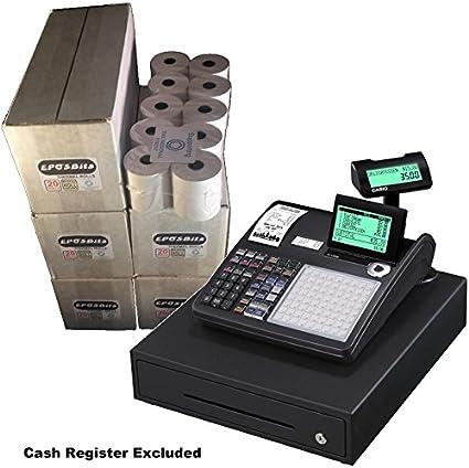 eposbits® marca rollos para que se ajuste a Casio se-c3500 sec3500 seg se C3500 C 3500 Caja Registradora – 100 rollos: Amazon.es: Oficina y papelería