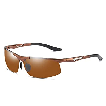 CXJC Gafas de Sol polarizadas para Hombre Medio Bastidor de ...